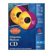 Lm-etiqueta blanca p/cd y dvd