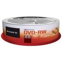 DISCO DVD-RW SONY 4.7GB 2X...