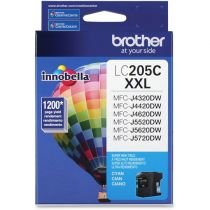 Tinta Brother Lc205c Cyan...